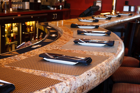 Tastings Bar with silverware laid out